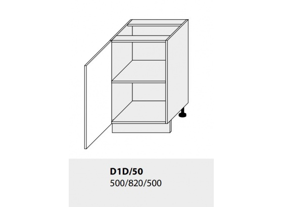 Dolní skříňka kuchyně TITANIUM D1D 50 bílá