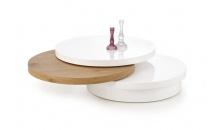 Konferenční stolek MICHELLE bílý/dub zlatý