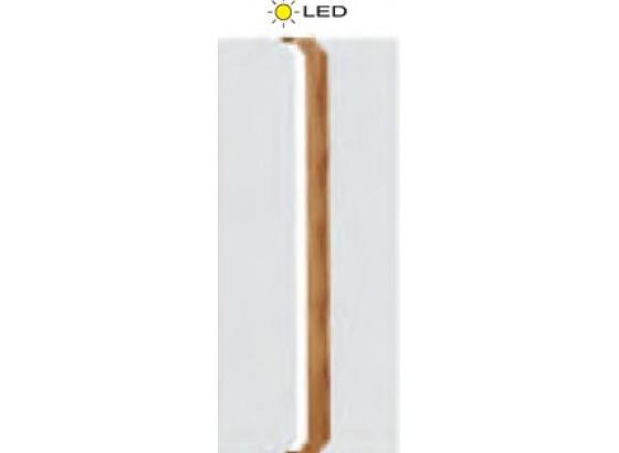 Skříň LOFT L1 dub lancelot/bílý lesk