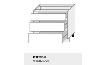 Dolní skříňka PLATINIUM D3E 90 grey