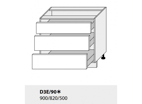 Dolní skříňka PLATINIUM D3E/90 grey