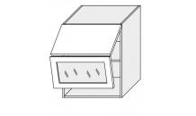 Horní skříňka EMPORIUM W8BS 60 AV WKF sklo bílá
