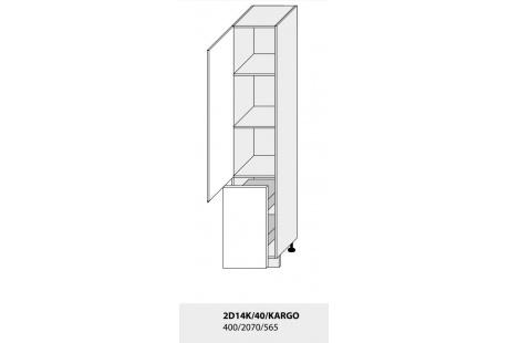 Dolní skříňka kuchyně TITANIUM 2D14K 40 + Cargo/grey