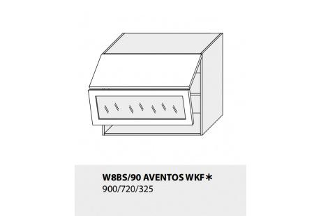 Horní skříňka kuchyně TITANIUMN W8BS 90 AV WKF/grey