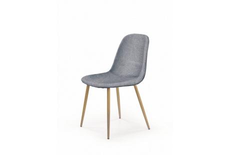 Jídelní židle K220 šedá/dub medový