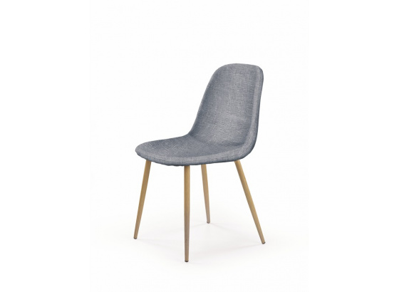 Jídelní židle K 220 šedá/dub medový