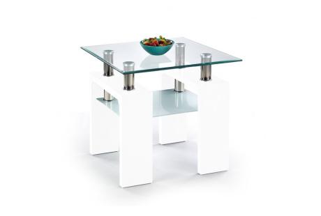 Konferenční stolek DIANA H čtverec bílý lak