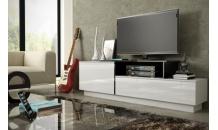 Televizní stolek SIGMA 3A bílý lesk/bílý mat/černý lesk