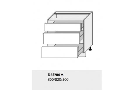 Dolní skříňka kuchyně TITANIUM D3E 80/grey