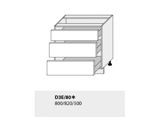 Dolní skříňka kuchyně TITANIUM D3E 80 grey