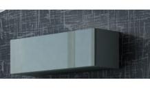 Vitrína VIGO 90 šedý mat/šedý lesk