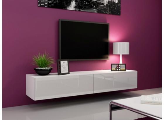 TV stolek VIGO RTV 180 bílý mat/bílý lesk
