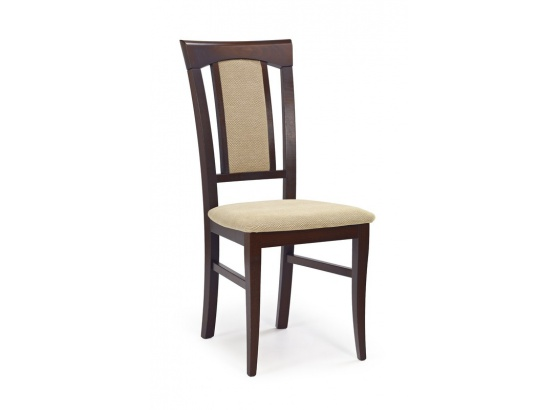 Jídelní židle KONRAD ořech tmavý/Torent beige