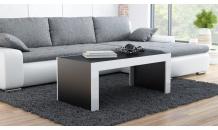 Konferenční stolek TESS černý mat/bílý lesk