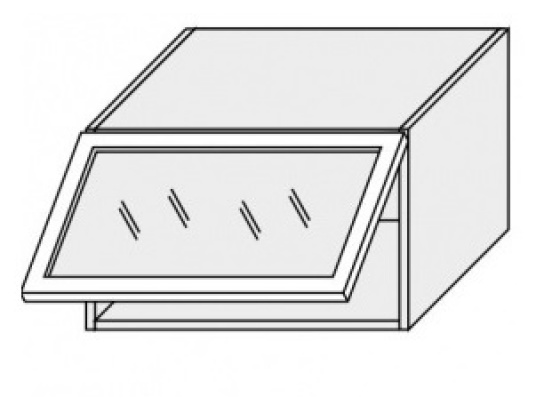 Horní skříňka PLATINIUM W4BS/60 ALU grey