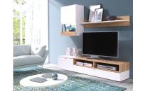 Obývací stěna ROCO bílá/dub zlatý