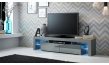 TV stolek SOLO RTV šedý mat/šedý lesk