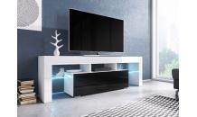 TV stolek TORO 138 RTV bílý mat/černý lesk/bílý lesk