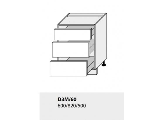 Dolní skříňka kuchyně TITANIUM D3M 60 grey