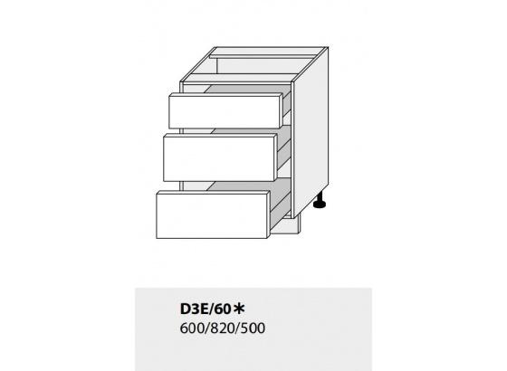 Dolní skříňka kuchyně TITANIUM D3E 60 grey