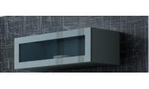 Vitrína VIGO 90 sklo šedý mat/šedý lesk