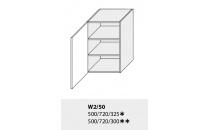 Horní skříňka kuchyně TITANIUM W2 50/grey
