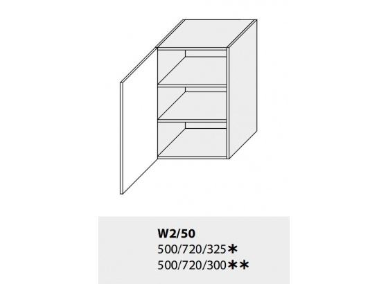 Horní skříňka kuchyně TITANIUM W2 50 grey