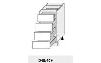 Dolní skříňka kuchyně Quantum D4E 40/grey