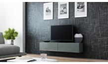 TV stolek VIGO RTV 140 šedý mat/šedý lesk