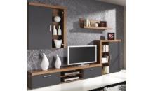 Obývací stěna SAMBA švestka/grafit