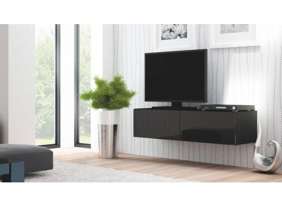 TV stolek LIVO RTV-160W černý/černý lesk (zrušena výroba)