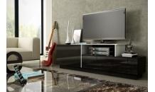 Televizní stolek SIGMA 3C černý mat/černý lesk/bílý lesk