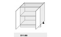 Dolní skříňka PLATINIUM D11 80 grey