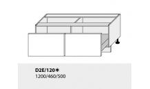 Dolní skříňka kuchyně Quantum D2E 120/grey