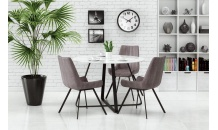 Jídelní stůl LOOPER bílý/černý