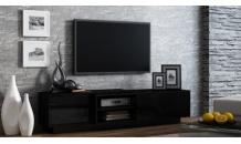 Televizní stolek SIGMA1E černý mat/černý lesk