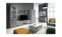 Obývací stěna BRILLO bílá/šedý lak