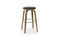 Barová židle H39  ořech / černá