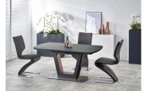 Jídelní stůl BILOTTI antracit matný / ořech