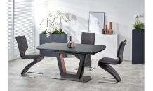 Jídelní stůl BILOTTI antracit matný/ořech