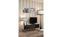 TV stolek VIGO RTV 140 bílý mat/černý lesk