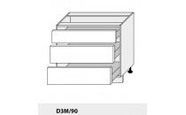 Dolní skříňka PLATINIUM D3M 90 grey