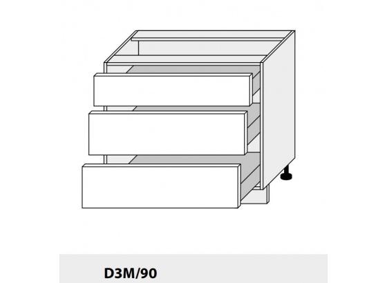 Dolní skříňka PLATINIUM D3M/90 grey