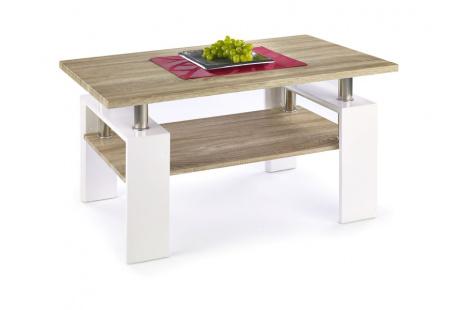 Konferenční stolek DIANA H MDF dub sonoma/bílá