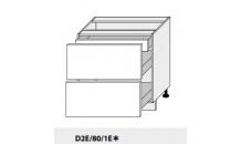 Dolní skříňka PLATINIUM D2E/80/1E grey