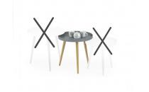 MALAGA 2 konferenční stolek světle šedá