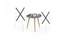 Konferenční stolek MALAGA 2 světle šedá