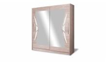 Šatní skříň DOME DO8-15 dub sonoma/bílá lesk