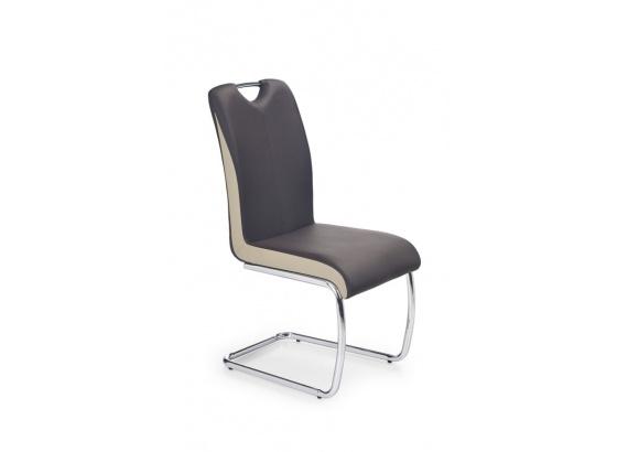 Jídelní židle K184 tmavě hnědá/champagne