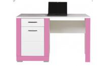 PC stolek TW12 TWIN  bílá / růžová